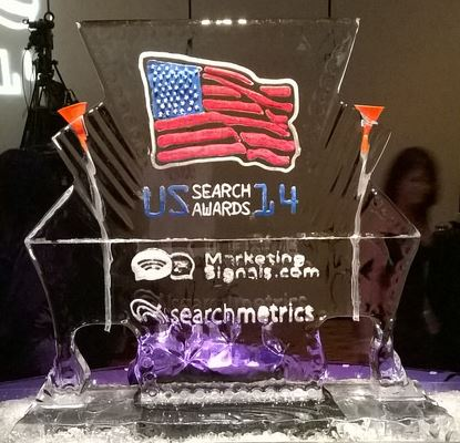2014 US Search Awards ice Sculpture