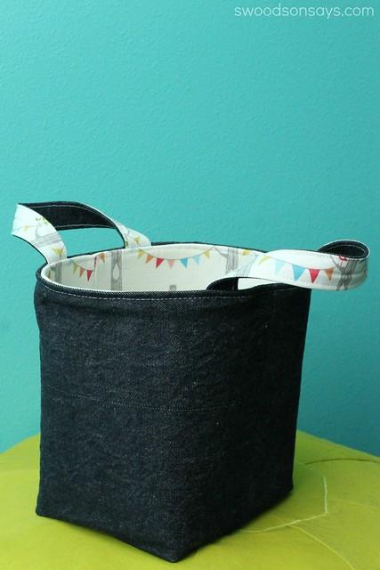 Bright Nursery Fabric Bucket