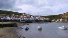 The Cleveland way...64 Miles...Staithes harbour.