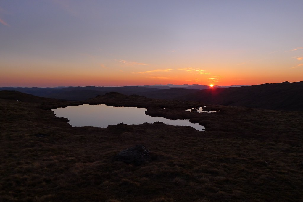 Sunset from Beinn Chas