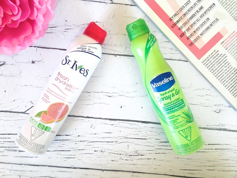 Vaseline Spray & Go vs. St Ives Fresh Hydration Lotion