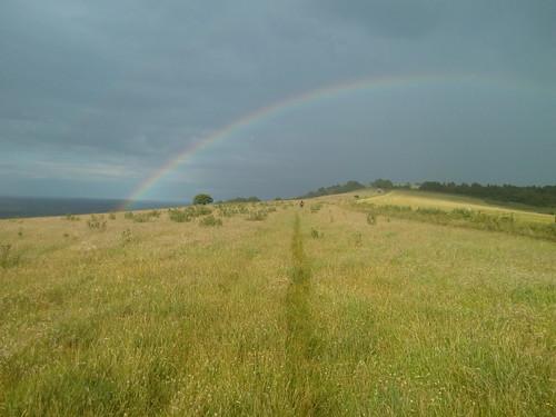 Rainbow on the South Downs