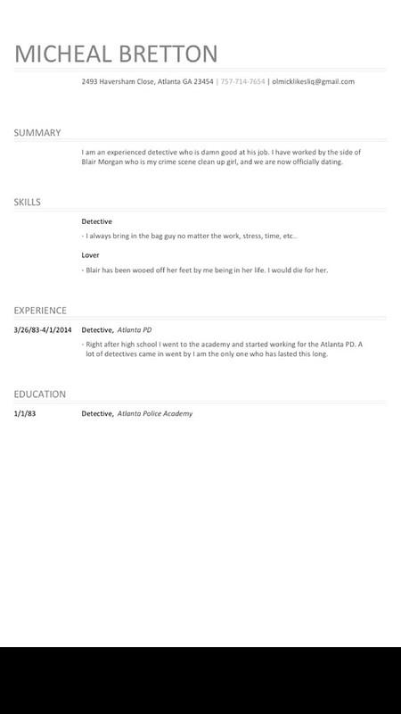 Ol Micks's resume