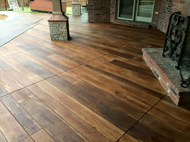 Concrete wood patio -  Ponca City OK