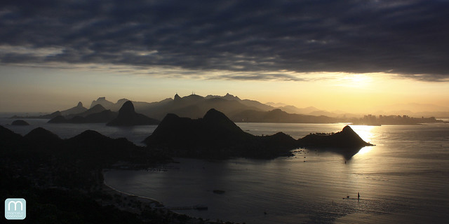 Baia de Guanabara no Rio de Janeiro