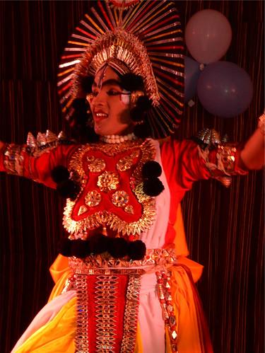 Yakshagana Performance on Ugadi Eve at the 100 Feet BBQ Lounge , Kormangala