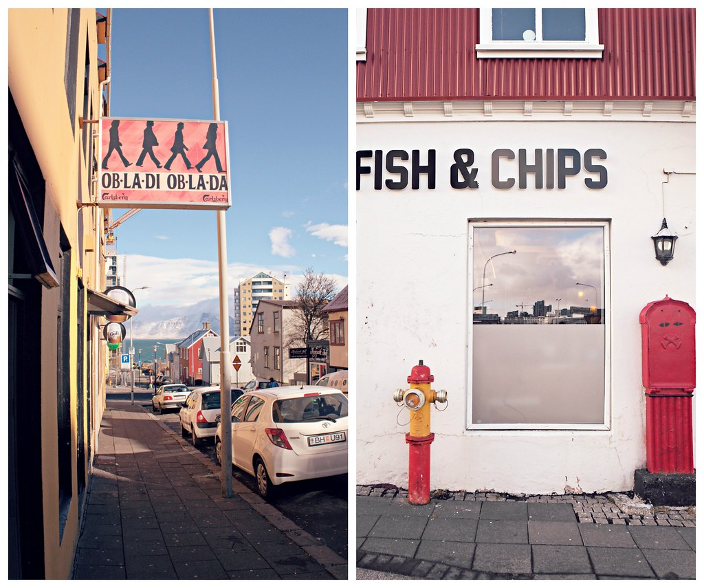 Iceland coloured street signs