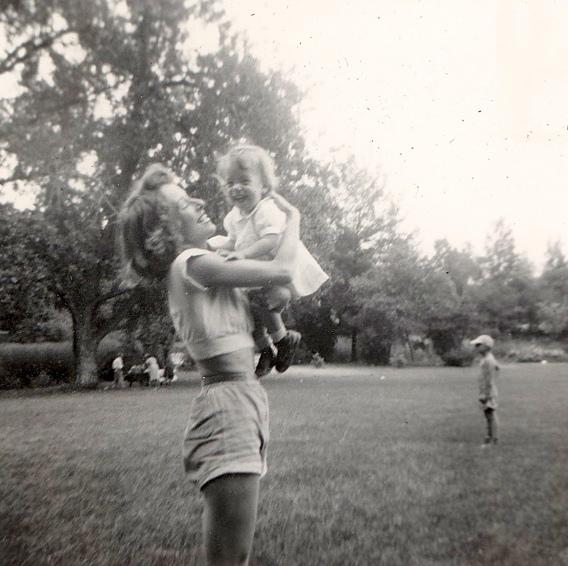 Mom and Patrice - Denver, 1951