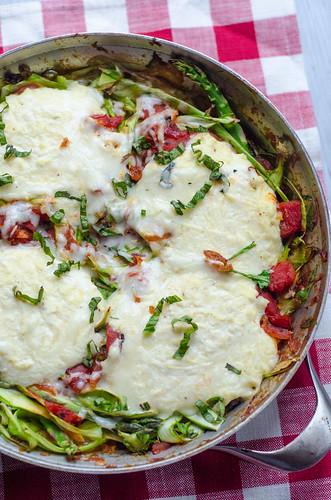 Asparagus Noodle Skillet Lasagna