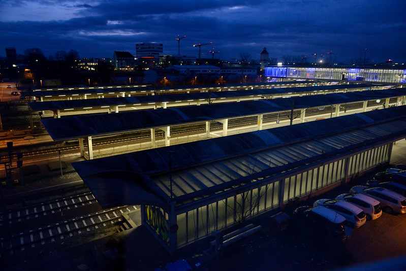 晚上的海德堡車站