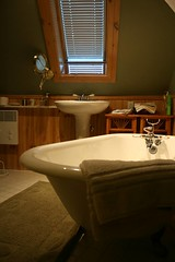 Bain antique dans la chambre Sarah