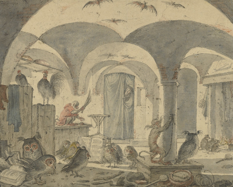 An Enchanted Cellar with Animals