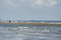 View to Sylt on a clear day