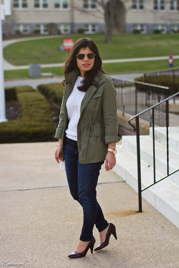 utility jacket, white sweater, denim, pumps-2.jpg