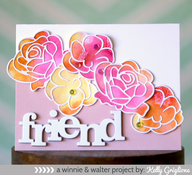 w&w Watercolored Roses Die Cuts
