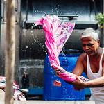 Pink Sari Laundry, Dhobi Ghat