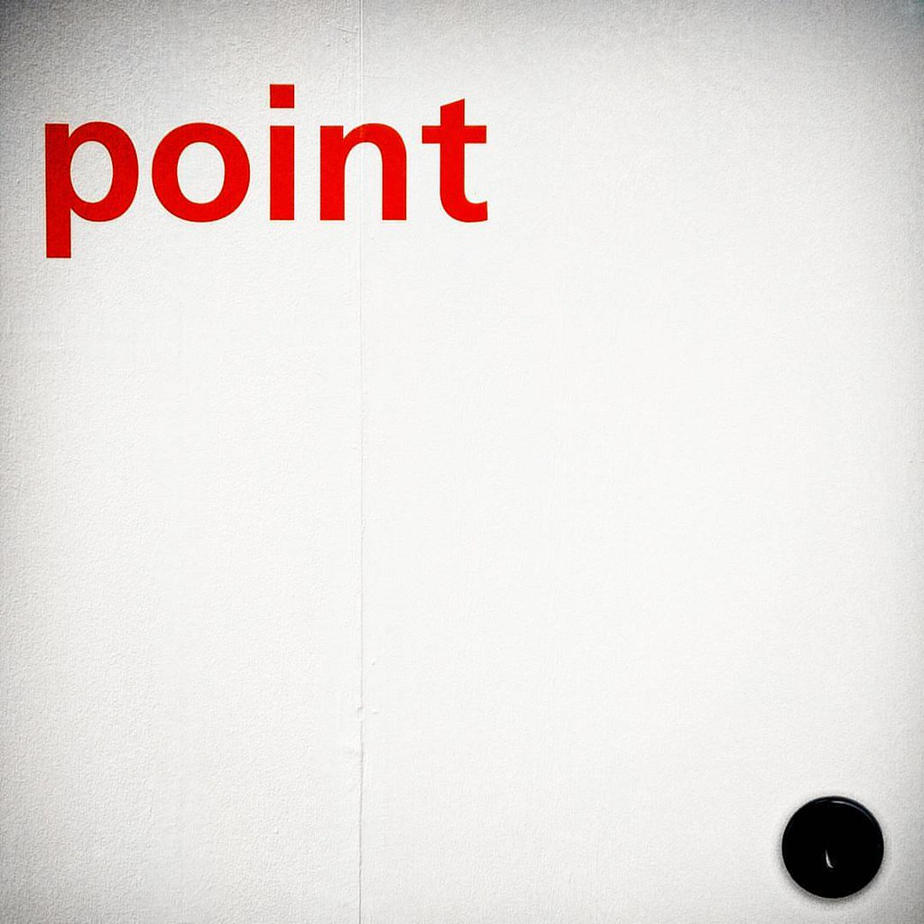 This is a point #point #dot #red #fieramilano #salonedelmobile #isaloni #minimal #instadaily #Circle #dot