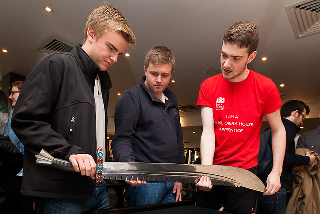 Dan Walker, Armoury Apprentice, at TheatreCraft 2014 © Alex Rumford 2014