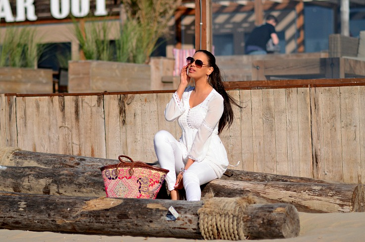 DSC_8510 White Jacky Luxury Dress, Tamara Chloé, Ibiza Basket bag, All white look