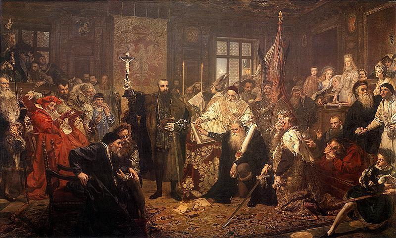 The Union of Lublin, by Jan Matejko