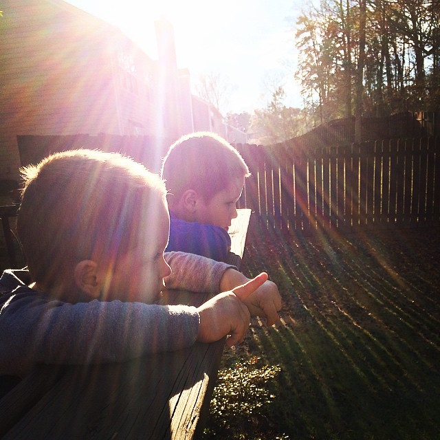 Enjoying the fading #sunlight and our incredibly amazing #backyard!!!! #sunflare #brothers #myboys #mylife #myview #boymom #thisisthelife #momlife #northgeorgia #atlanta #weloveatl #iloveatl #happy #igersatl