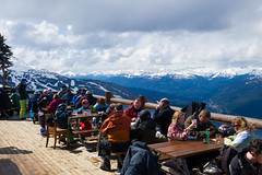 Enjoying the view from Crystal Hut patio