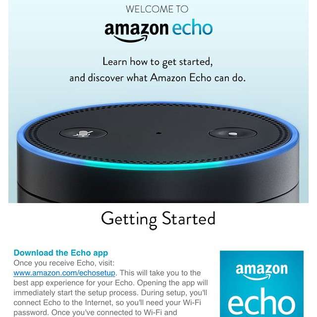 Is it weird that I'm overly excited? #amazonecho