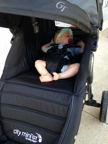 First Time Riding in the Stroller