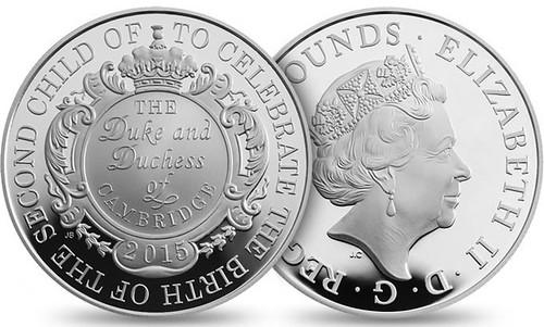 2015 Royal Birth silver coin