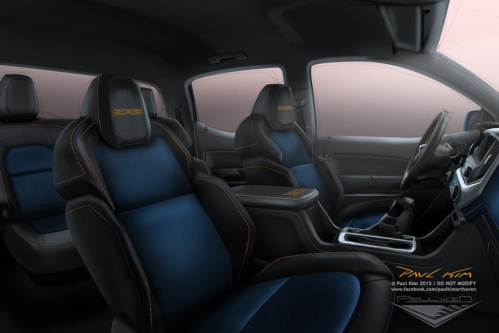 Chevrolet colorado zr2 concept design for Chevy colorado interior lights