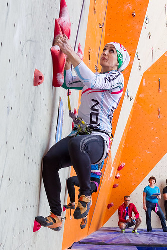 Iran's Farnaz Esmaeilzadah who is in 9th after qualifying