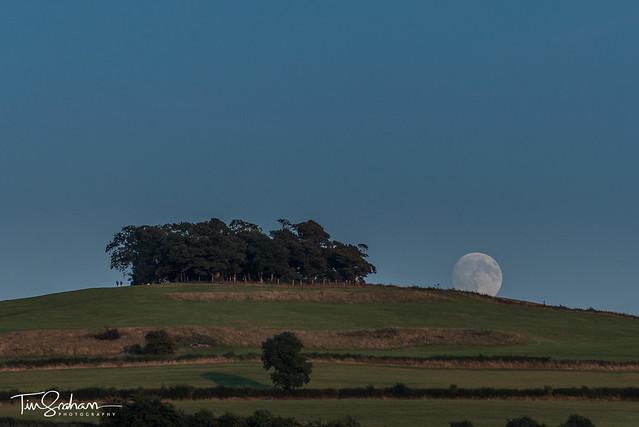 Full moon rising over Kelston Roundhill