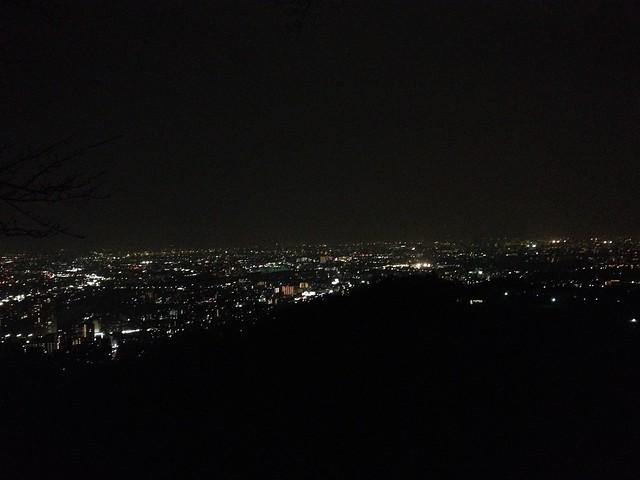 六甲全山縦走路 塩尾寺からの夜景