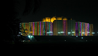 Image of Parliament of Bangladesh near Azimpur. city light house night day nightscape parliament national dhaka independence bangladesh সংসদ জাতীয় ভবন sajeebahmedphotography jatiyô sôngsôd bhôbôn
