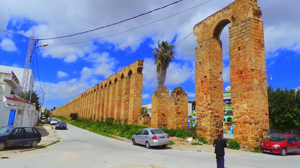 The Roman Aqueduct of Zaghouan, Le Bardo, Tunis, Tunisia