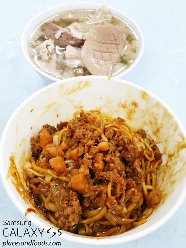 restoran kui lam yulek dried pork noodle