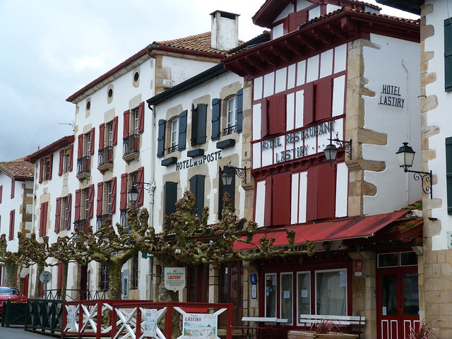Fachadas de Sare (País Vasco francés)