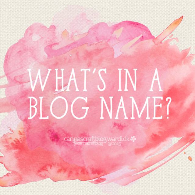 What's in a blog name?