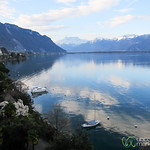 Montreux, View from our Balcony of Lake Geneva - Switzerland