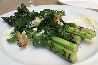 The Girl and the Fig - Grilled asparagus