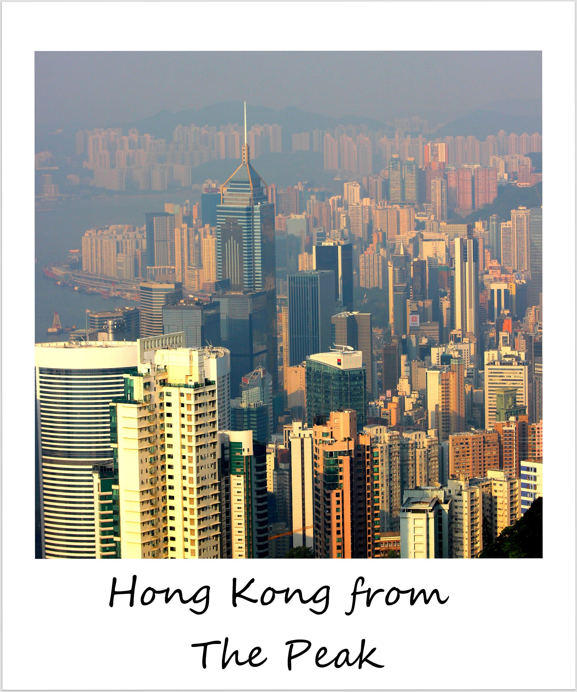 polaroid of the week hong kong the peak