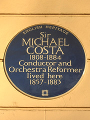 Photo of Michael Costa blue plaque
