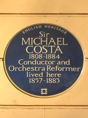 Photo of Michael Costa blue plaque