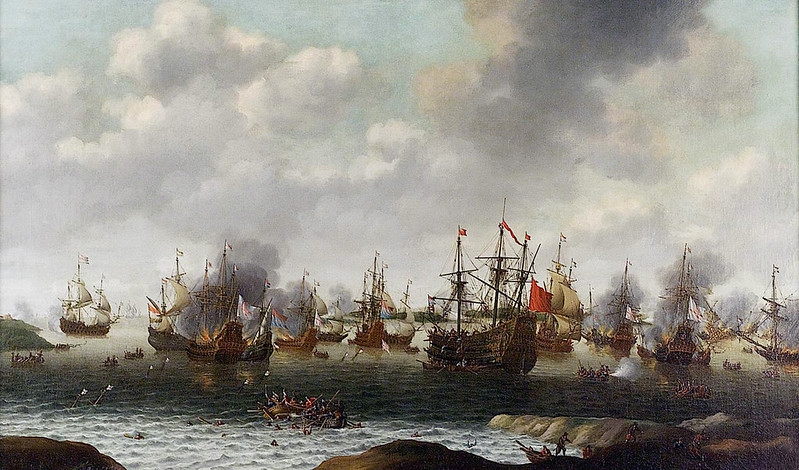 Attack on the Medway, by Pieter Cornelisz. van Soest