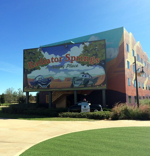 Orlando - Disney World - Disney's Art of Animation Resort - Cars - Radiator Springs Billboard (2)