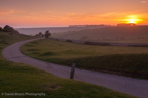 park sunset england downs sussex south farming farmland eat national eastbourne downland crowlink