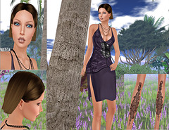 Hairstyle by PELLE, Dress by POSH PIXELS, Tattoo by Pin*Up, Lipstick by  *CNZ*, Designer Circle135,Applique Event.