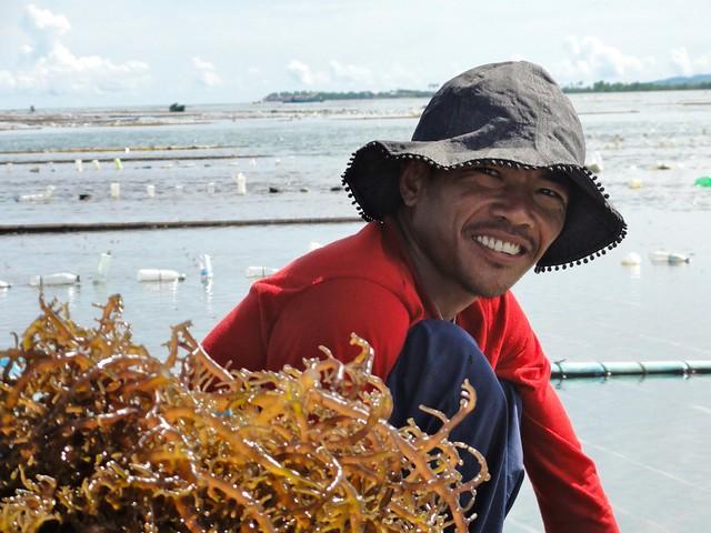 seaweed farmer in Zamboanga