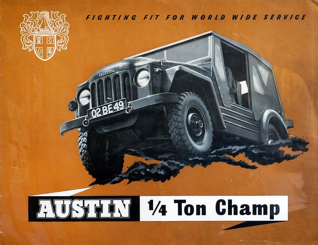 Austin Champ 1951 Leaflet front cover