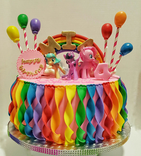 Colorful Cake by Vanessa Orsua of Sweet Sophie Fashion Cakes Canada